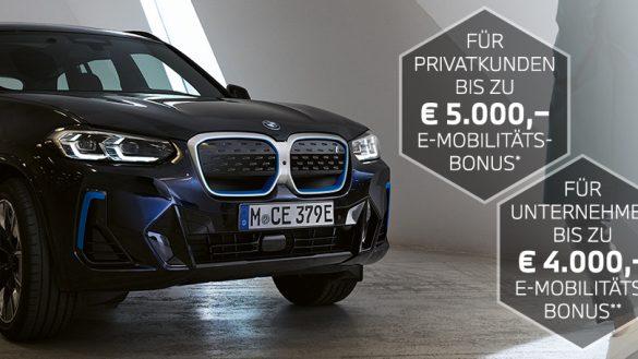 BMW iX3 mit Elektromobilitätsbonus